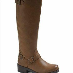 Women's Mossimo kayce wide calf cognac Boots new